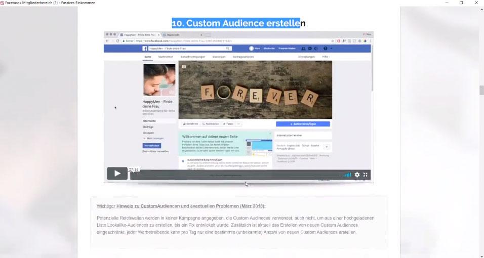 Custom Audience erstellen