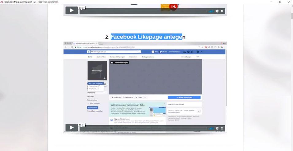 Facebook Likepage anlegen