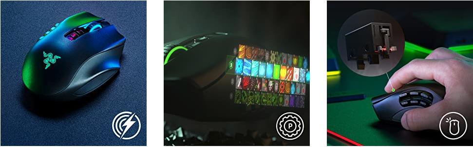 Razer Naga Pro mit Beleuchtung